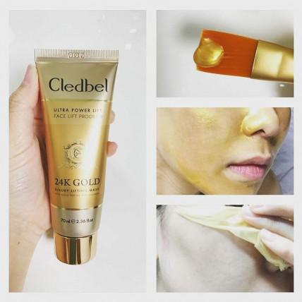 CLEDBEL 24K GOLD - маска пленка с лифтинг эффектом