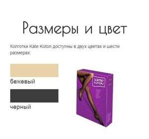 Kate Koton (Кате Котон) - колготки повышенной прочности