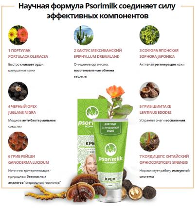 Psorimilk - крем от псориаза