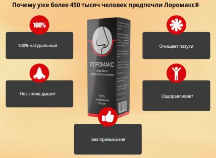 Лоромакс - средство от хронического насморка